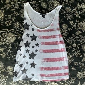 Miss Chievous American Flag Tank Top